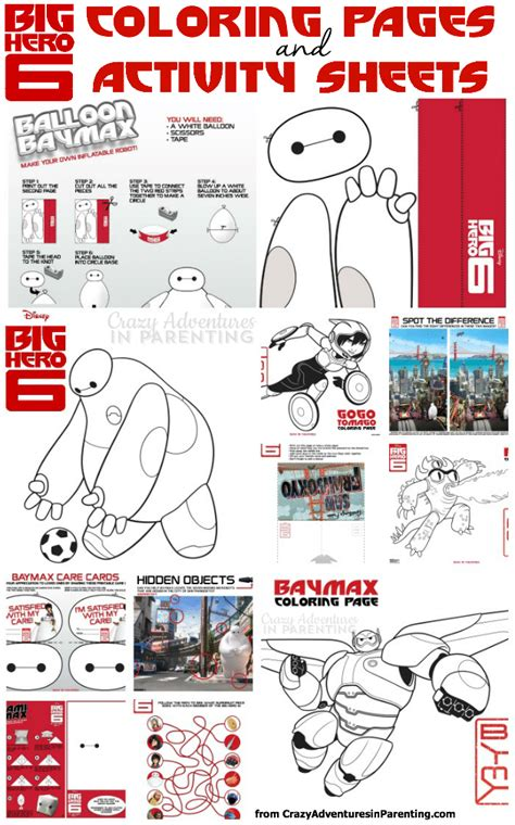 big hero 6 printable activity sheets big hero 6 coloring pages activity sheets and printables