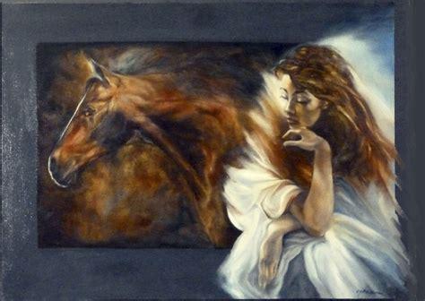 donna e amaremmi donna e cavallo pensiero 50x70 2014 jpg figure