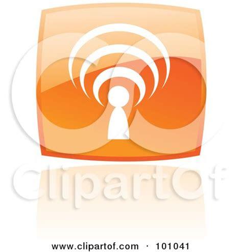 orange podcast royalty free rf clipart illustration of a square orange
