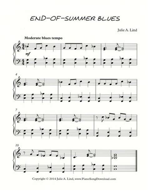 printable music lesson plans jazz and blues easy blues piano sheet music free basin street blues