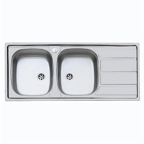 lavello da incasso due vasche lavello inox 2 vasche sxsc 116x50 incasso