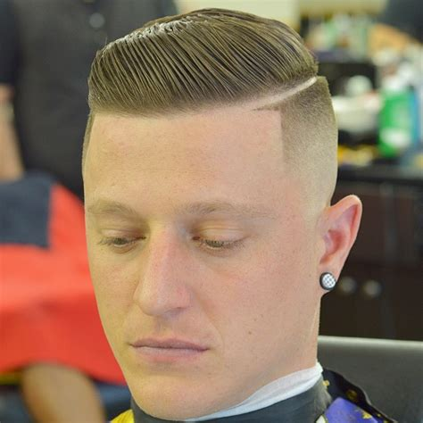 hard part haircuts cool bald fade with a hard part