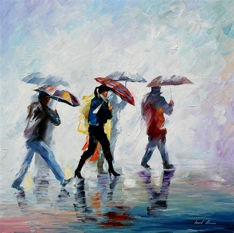 people painting behind the fog palette knife oil painting on canvas by