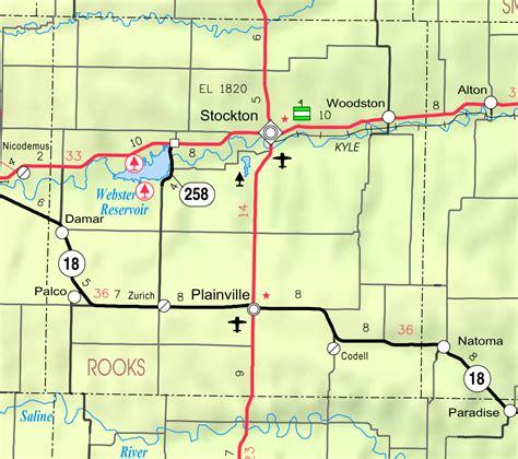 kansas usa map file map of rooks co ks usa png