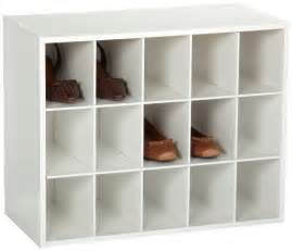 Closetmaid Shoe Cubby Closetmaid 8983 Stackable 15 Cube Organizer White Home