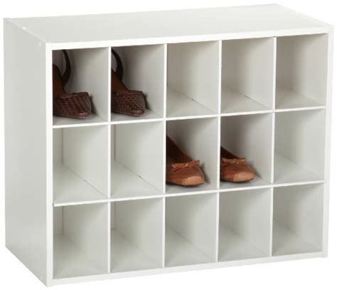 shoe storage cubbies closetmaid 15 cubby shoe organizer accessory storage shelf