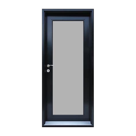 doors with frame door frame alum assembled 2110x888 rh pearl panel black