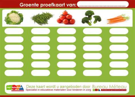fruit ka naam gezond eten kinderen groente proefkaart