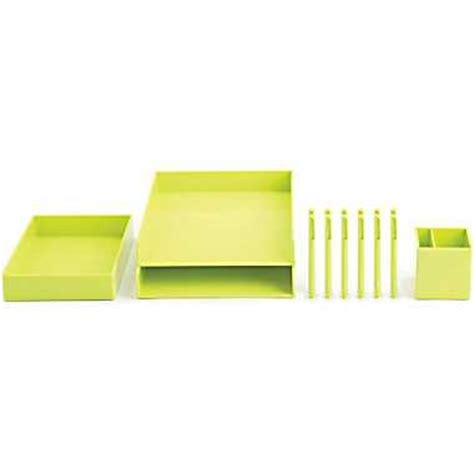 lime green desk accessories starter set lime green