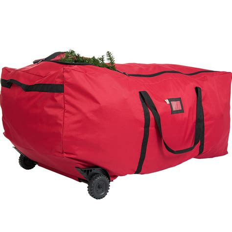 christmas tree bag with wheels in christmas tree storage