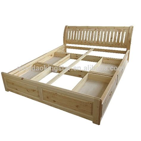 cheap solid wood bed with drawers ks db07 view