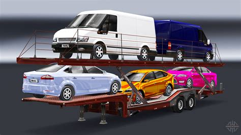 transport porte voiture semi remorque camion porte voiture avec audi et ford pour