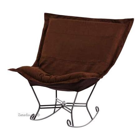 puff chair rocker chicago textile puff rocker microsuede chocolate