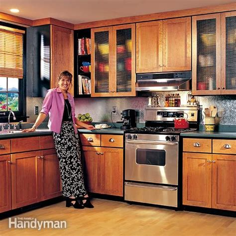 refinish or replace kitchen cabinets how to refinish kitchen cabinets the family handyman