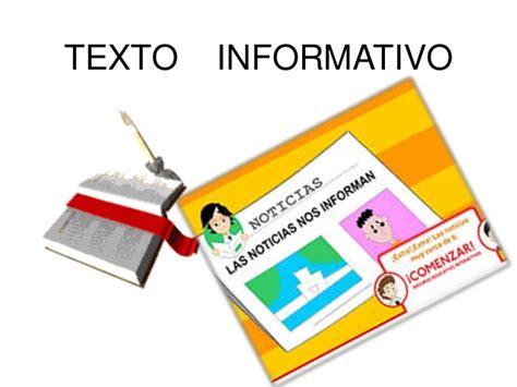 ejemplo de texto informativo texto informativo