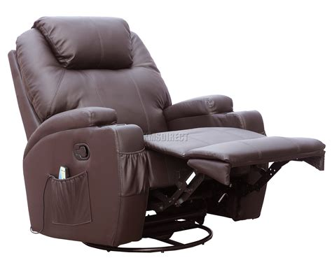 massage and heat recliner foxhunter bonded leather massage recliner chair cinema