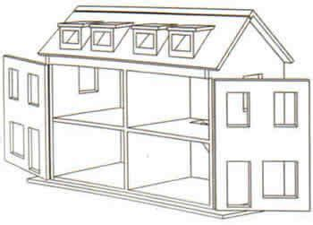 doll house design plans wooden doll house plan