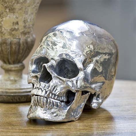 Skull Decorations For The Home Andrew Silver Metal Skull Eclectic Home Decor By Tonic Home