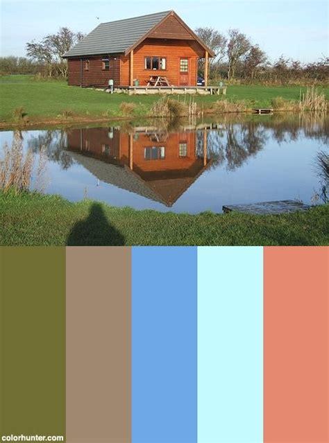 Cabin Color Schemes by Lake House Cabin Color Scheme Color Schemes