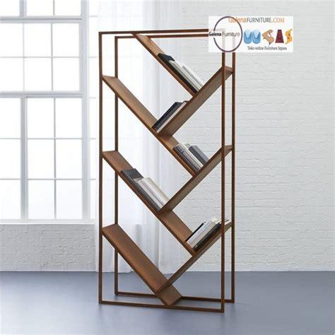 Rak Buku Dari Rotan harga rak buku kayu minimalis jual furniture minimalis murah