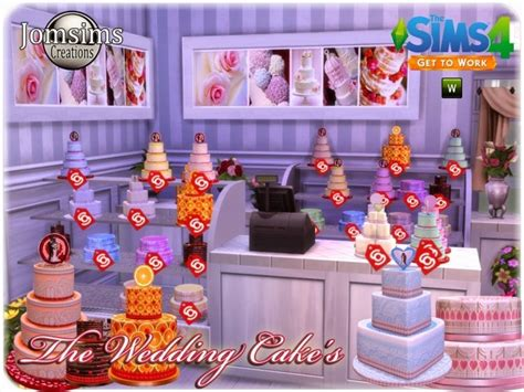 Wedding Cake On Sims 4 by Wedding Cake At Jomsims Creations 187 Sims 4 Updates