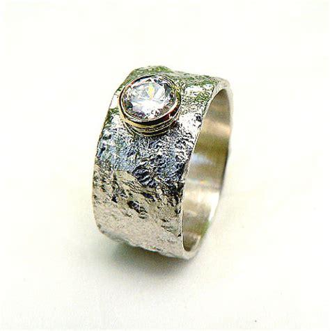 Handmade Silver Engagement Rings - handmade fabulous sterling silver engagement ring set with