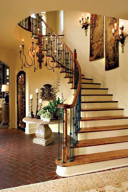 decorate  curved staircase wall