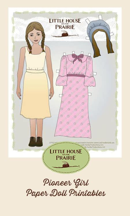 Pioneer Girl And Pioneer Boy Paper Doll Printables House On The Prairie Coloring Pages