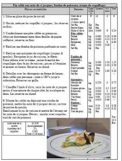 fiches cuisine fiche technique cuisine cap la maison o 249 r 232 gne la joie