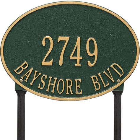 Address Plaques For Yard - hawthorne standard lawn address marker in lawn address plaques