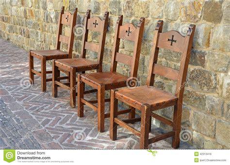 sedie medievali chairs on brick patio stock photo image 42313416