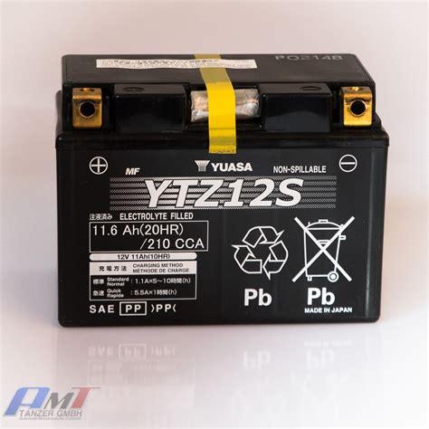 Motorradbatterie Ytz12s by Yuasa Batterie Ytz12s 12v 10ah Motorradbatterie Ebay