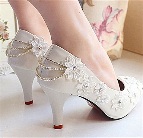 White Lace Wedding Wedges by White Lace Wedding Wedges Www Imgkid The Image Kid