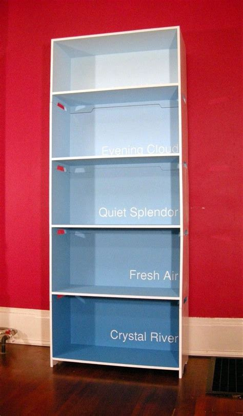 cool idea ombre paint chip bookcase home is where the is