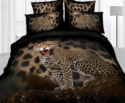3d Leopard Animal Print Bedding Set Queen Size Duvet Cover Size Cheetah Print Bed Set