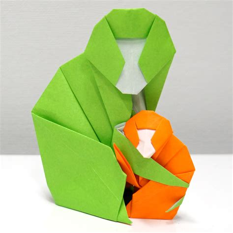 How To Make Paper Monkey - origami monkey comot