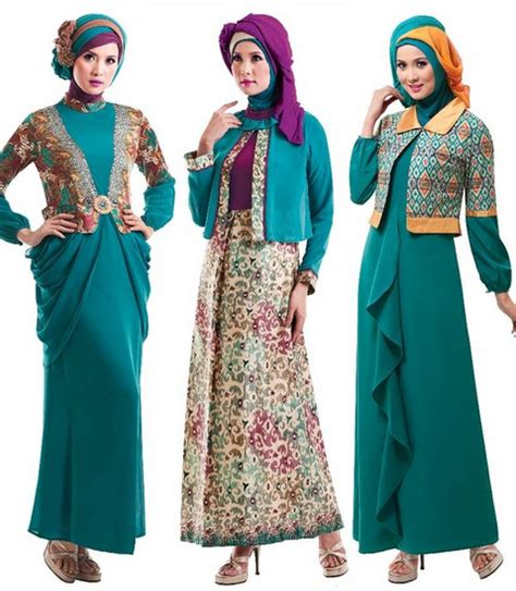 23 Pakain Muslim Untuk Wanita Warna Pink gambar baju batik modern 1 model baju masa kini contoh