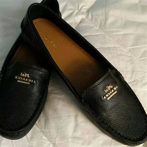 black coach loafers coach loafers new black pebbles box and big