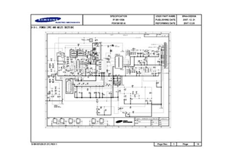 samsung power board circuit bn  service manual repair schematics