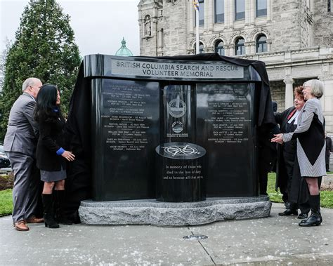 how to get your into search and rescue memorial unveiled on the grounds of the legislature for fallen search and rescue