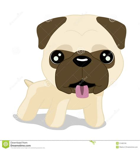 pug clipart pug puppy royalty free stock image image 31482106