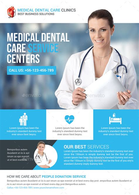 health medical doctors flyer template by