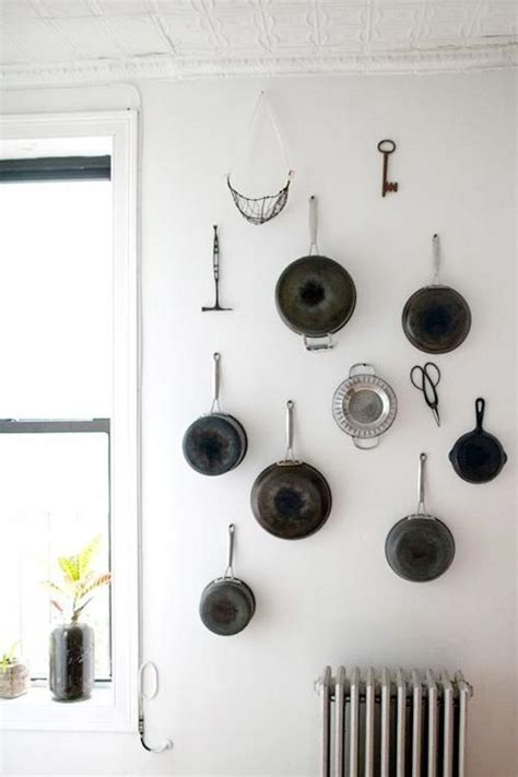 attractive Large Wall Decor Ideas #3: cool-kitchen-pots-and-lids-storage-ideas-31.jpg