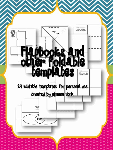 foldables templates foldable templates for personal use