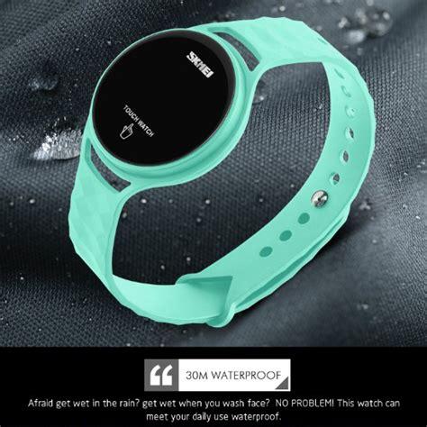 Jam Tangan Led Touch Wanita Skmei 1230a Green skmei jam tangan led touch wanita 1230a green