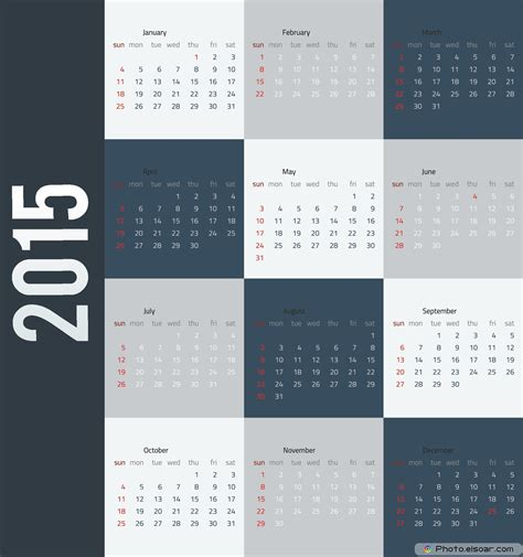 2015 business calendar template business calendar design calendar template 2016