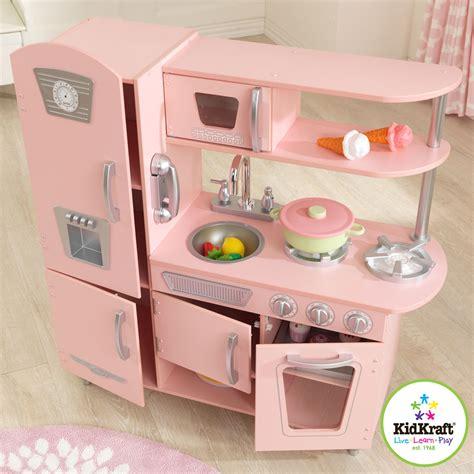 cocina kidkraft kidkraft cuisine vintage rose 53179