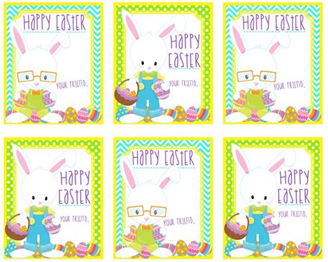 printable easter themed name tags printable bunny tags happy easter gift tags instant