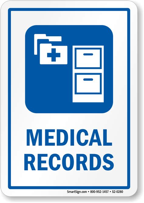 Hospital Records Records Hospital Sign File Cabinet Symbol Sku S2 0280