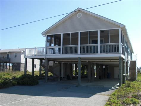 Beach House At North Topsail Island Nc 4 Br Vacation Topsail Rental Houses